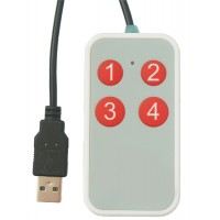 4 Button USB Hand Controller  for use with any software that uses keyboard shortcuts