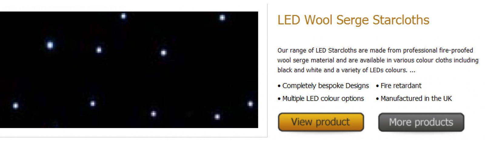 UK Made LED Starcloths