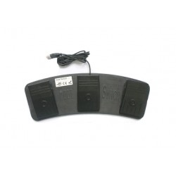 Three Pedal USB Foot Switch for use with any software that uses keyboard shortcuts