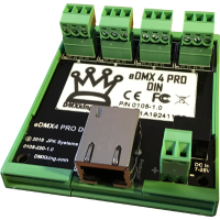 eDMX4 PRO DIN  - art-net - sACN - dongle - node  - DMX King